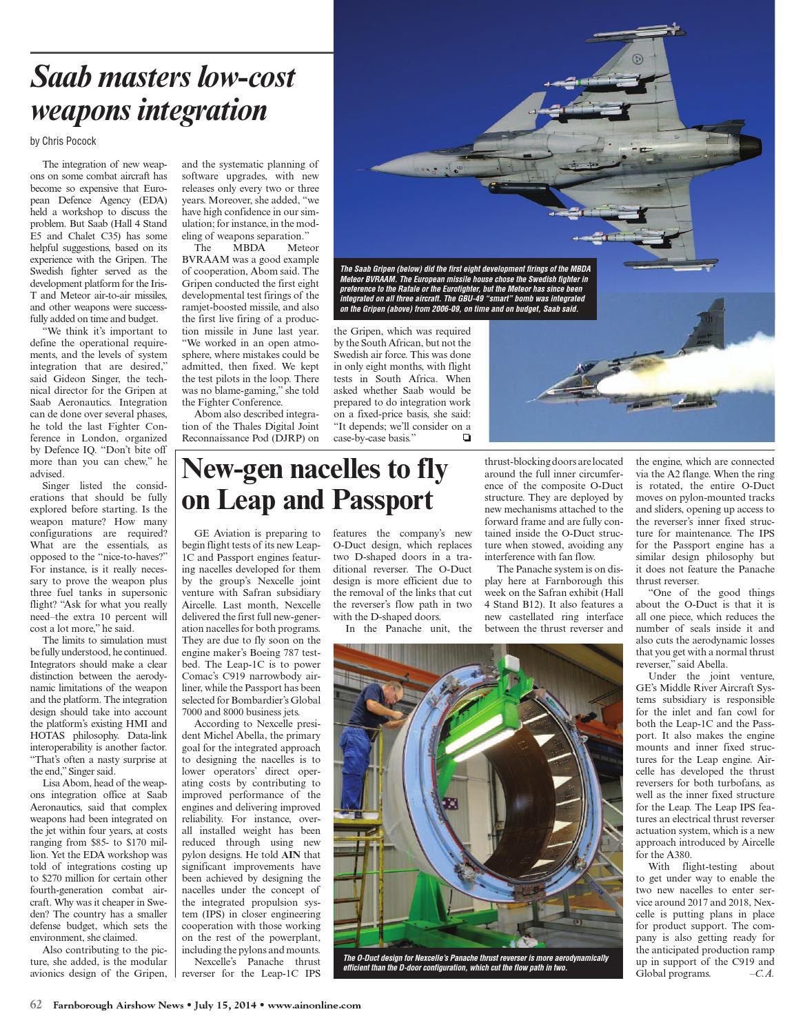 Farnborough Airshow News 07-15-14 by Aviation International News - issuu