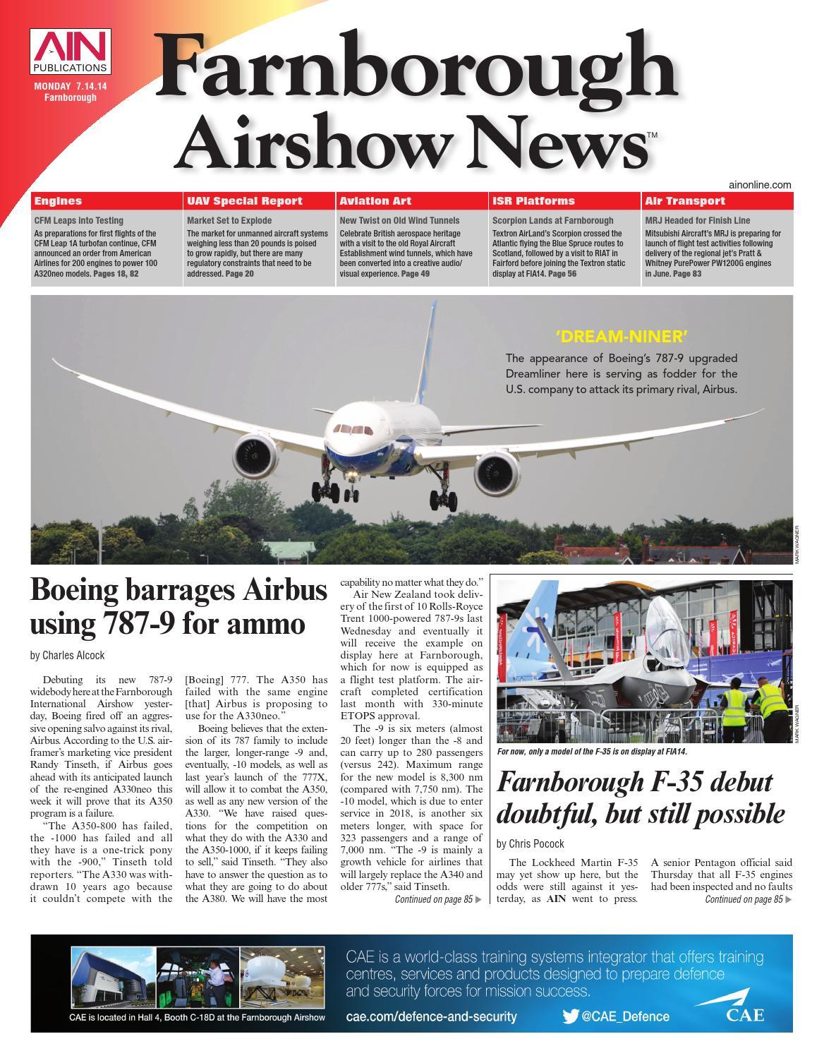 Textron Scorpion Jet News: Farnborough Airshow News 07-14-14 By Aviation