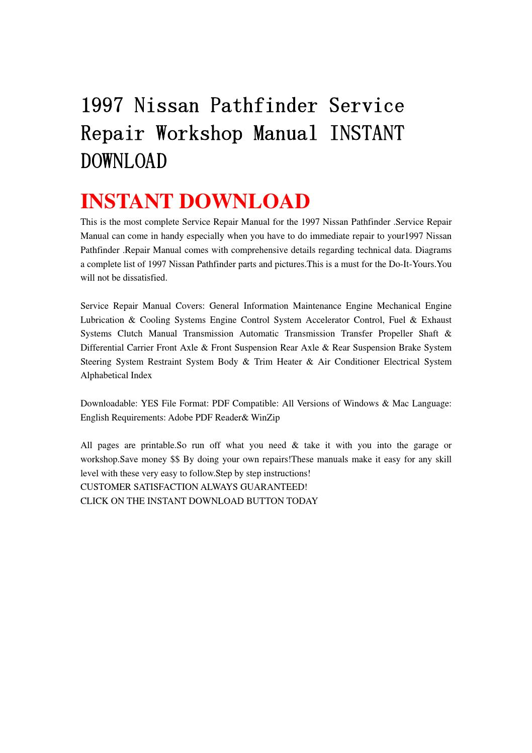 1997 nissan pathfinder service repair workshop manual instant download by  jhfgbsehn - issuu