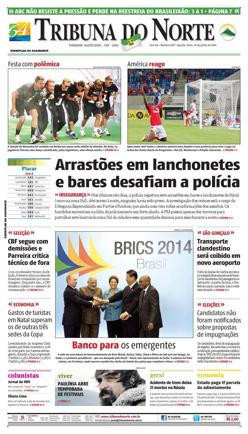 04a04ef01c Tribuna do Norte - 16 07 2014 by Empresa Jornalística Tribuna do Norte Ltda  - issuu
