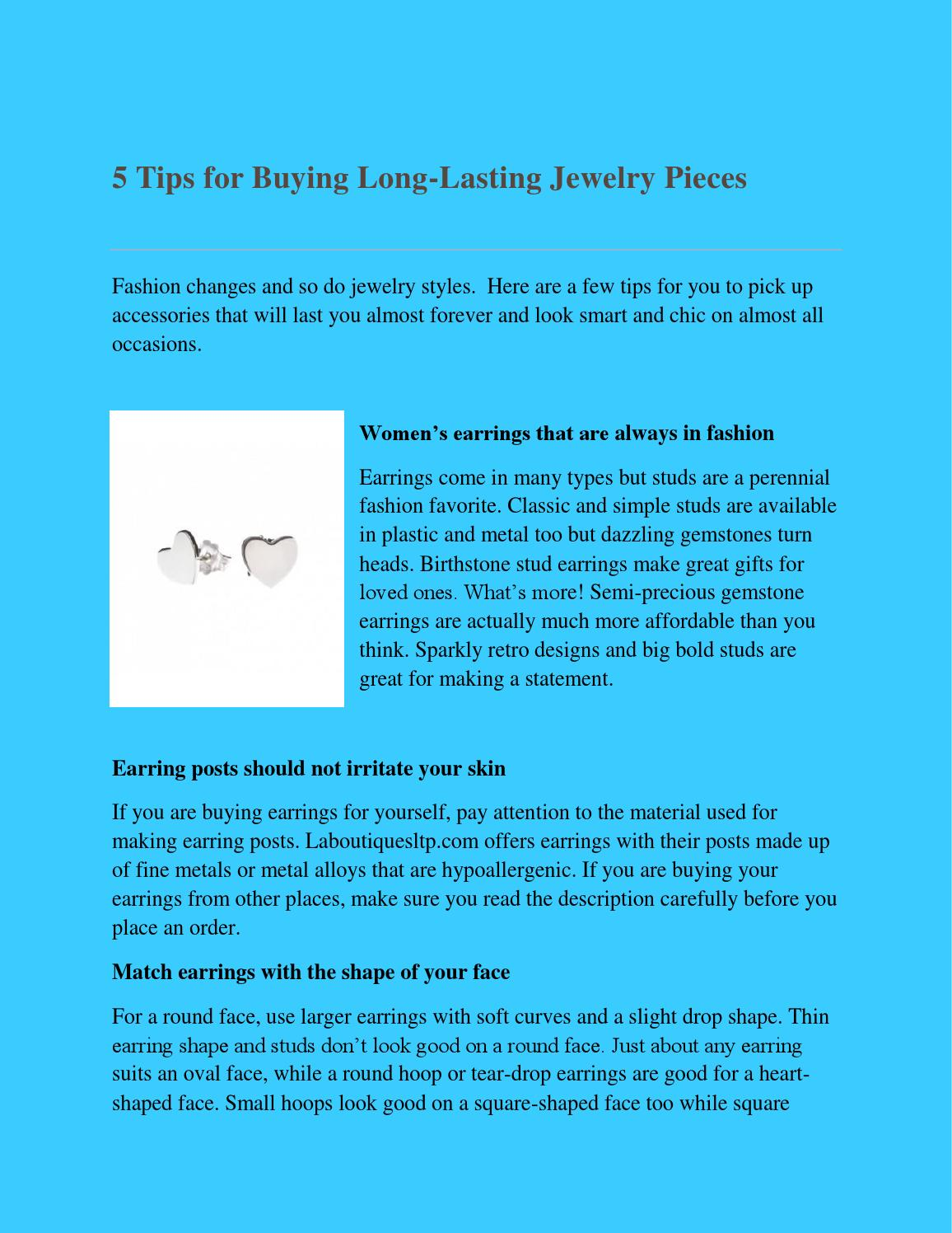 5 tips for buying long lasting jewelry pieces by ...