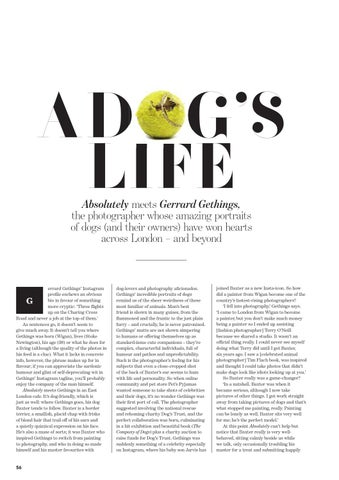 73825a0fb24 A DOG'S LIFE Absolutely meets Gerrard Gethings, the photographer whose  amazing portraits of dogs (and their owners) have won hearts across London  – and ...