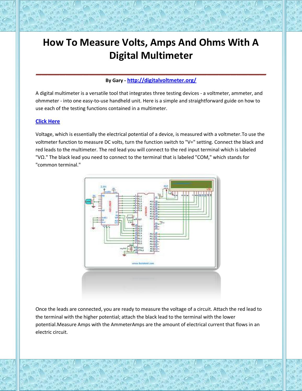 Digital Voltmeter By Vdvasbiuf Issuu Related Image With Circuit