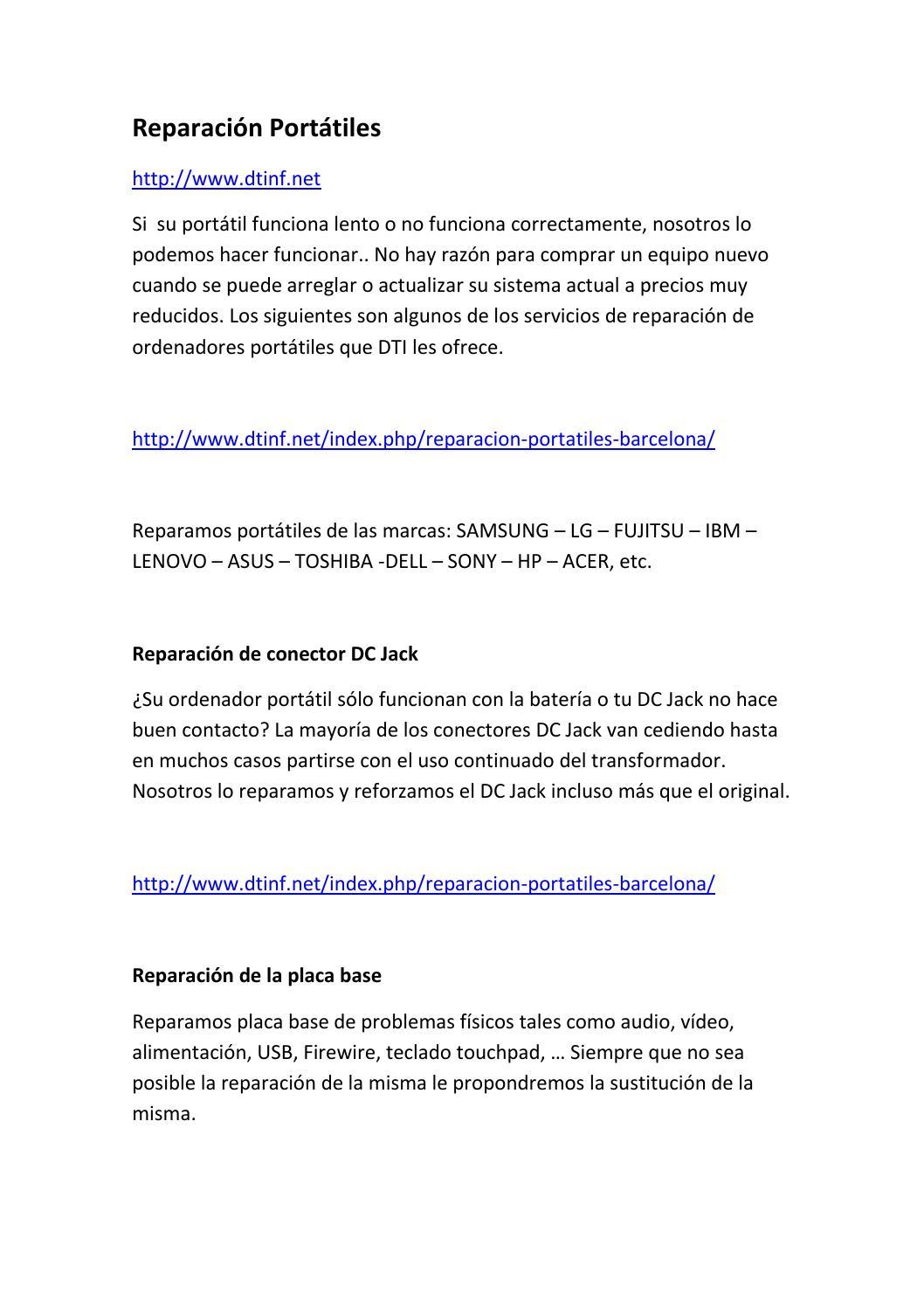 Reparacion portatiles barcelona by programa gestion daf for Reparacion de portatiles en barcelona