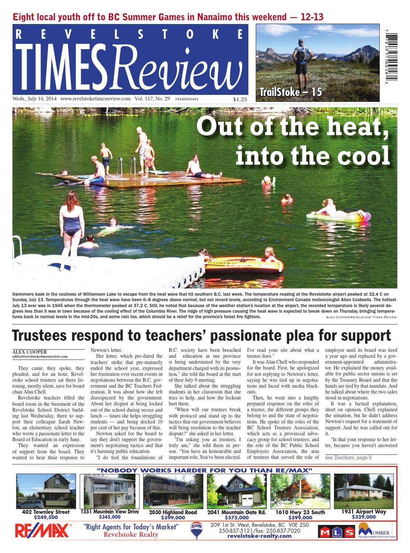 Revelstoke Times Review July 16 2014 By Black Press Issuu Handle Rem Kiri Kc Mio