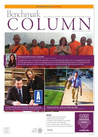 4d6ffd5c47b5 July 2014 Benchmark Column by WMU Cooley Law School - issuu