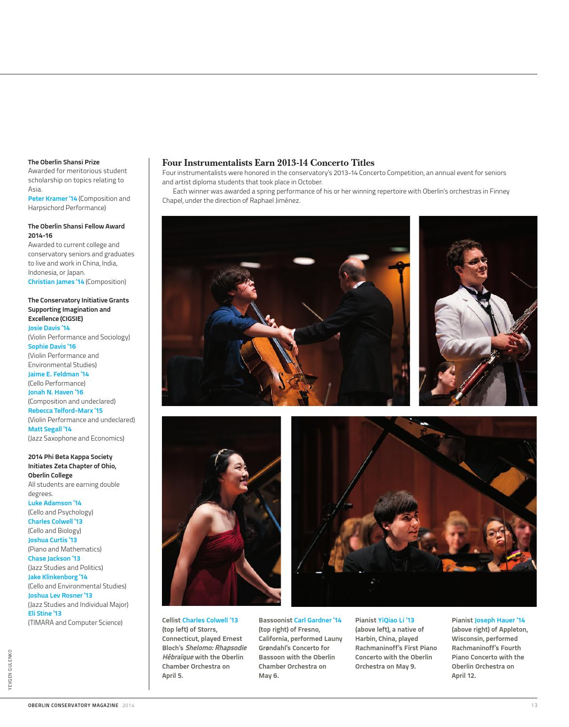Oberlin Conservatory Magazine - 2014 by Oberlin College
