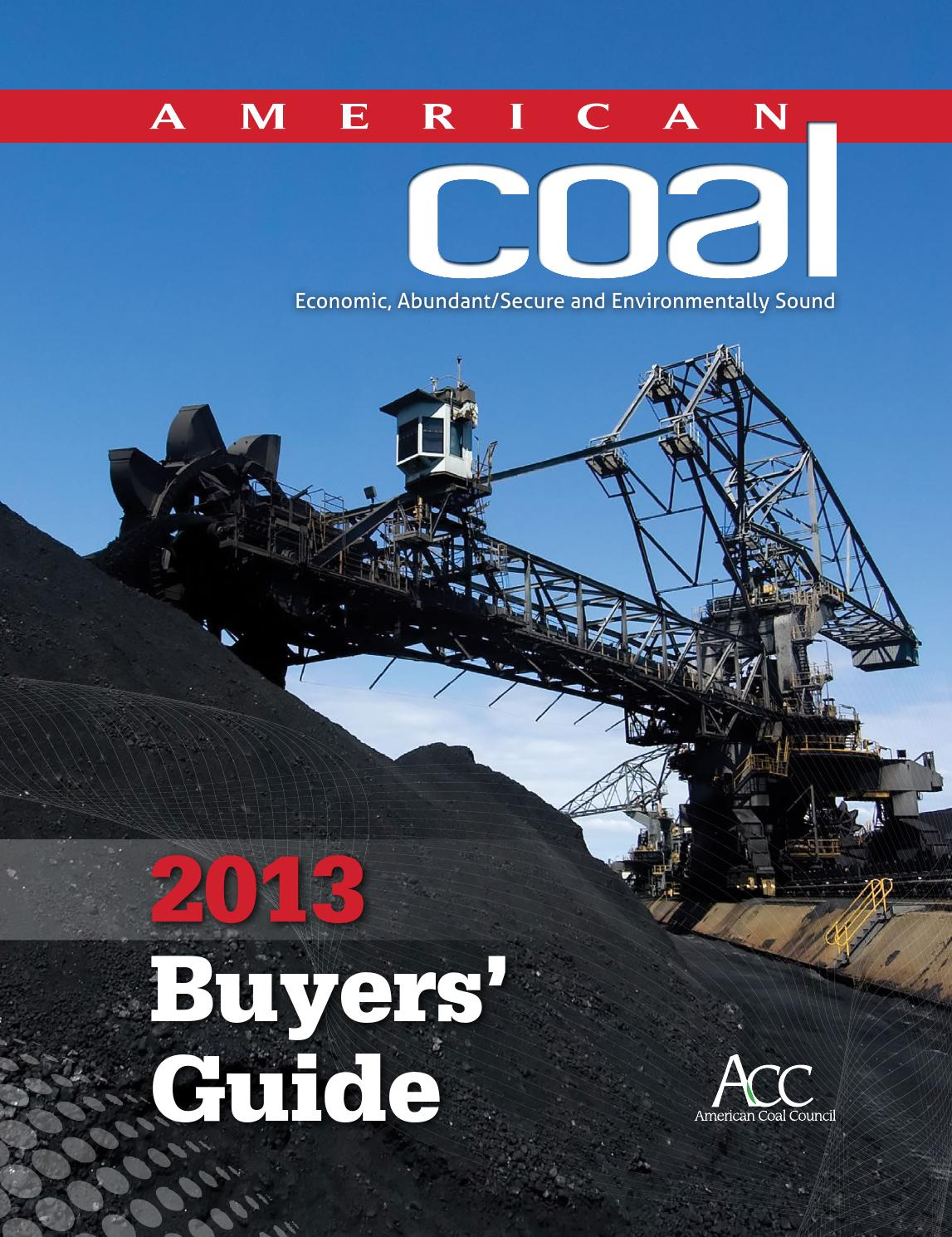 American coal 2013 buyers 39 guide by american coal council for 140 broadway 46th floor new york ny 10005