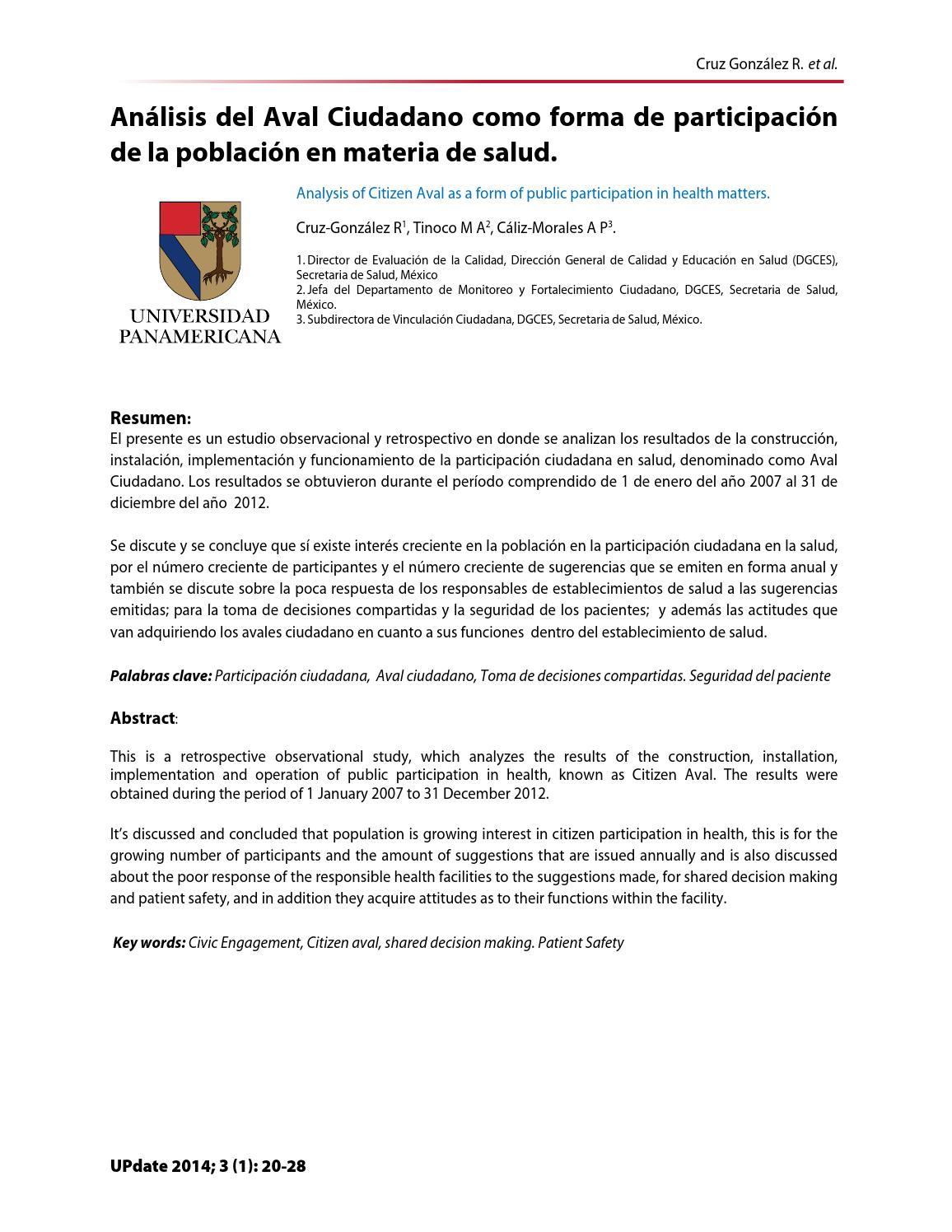 Avalciudadano by UPdate Journal of Medicine - issuu
