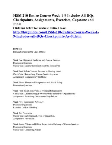 hsm 210 checkpoint week 6 determining levels of prevention 1 contents chapter 1: introduction document conventions.