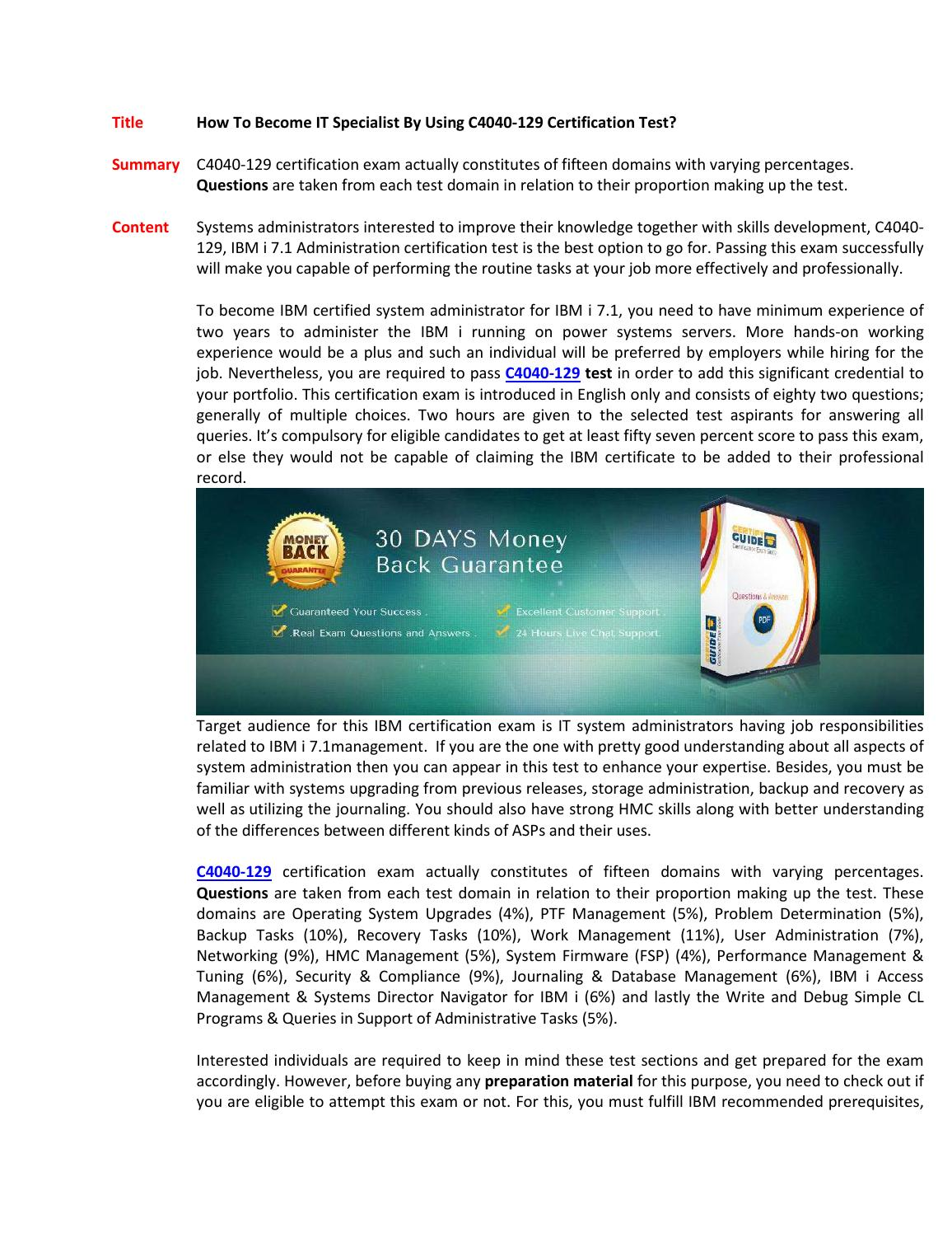 C4040 129 Exam Questions Answers By Susanfisher10 Issuu