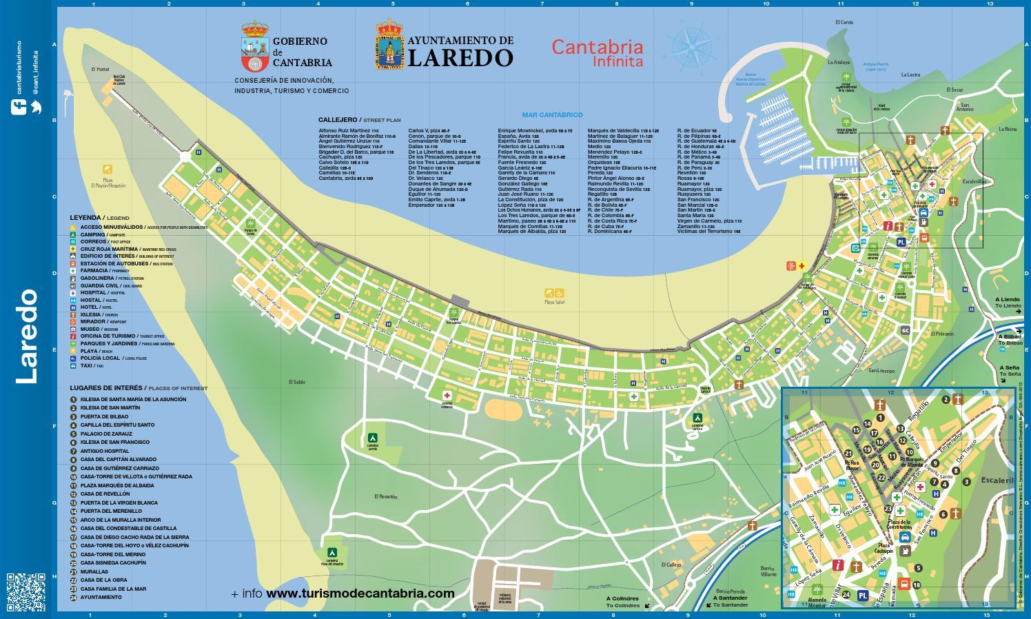 Plano callejero laredo by camping de laredo issuu - Apartamentos la marina laredo ...