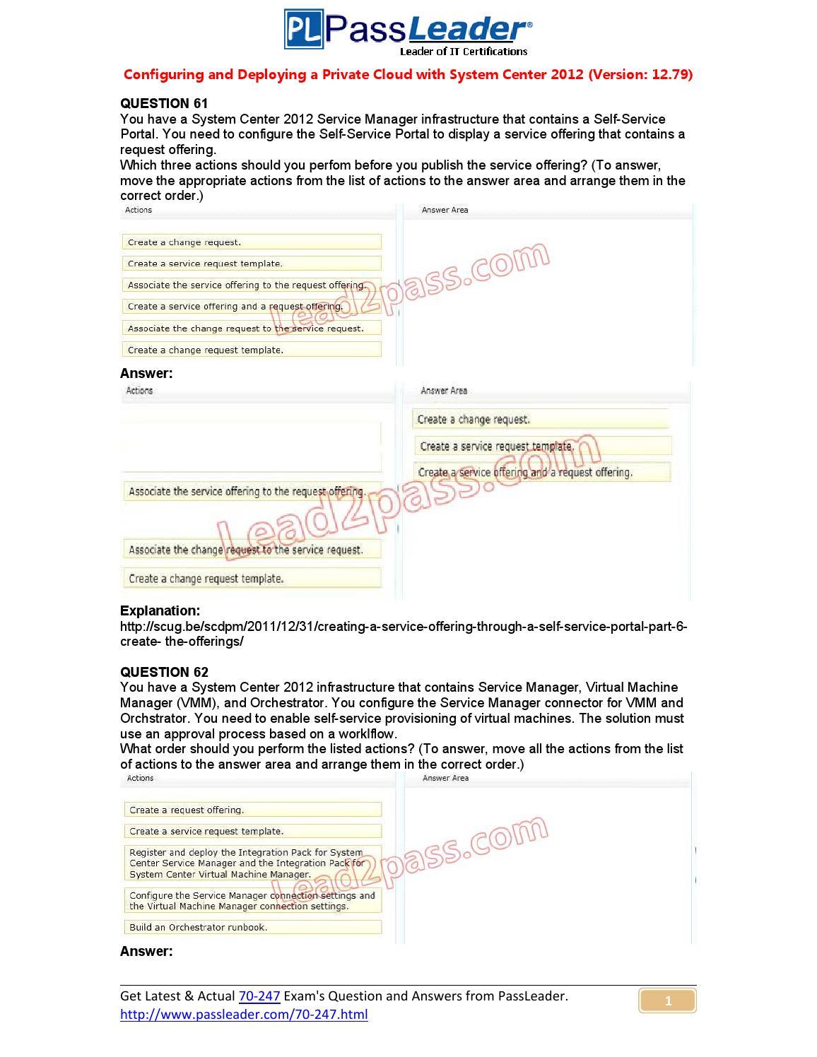 70-247 exam case study