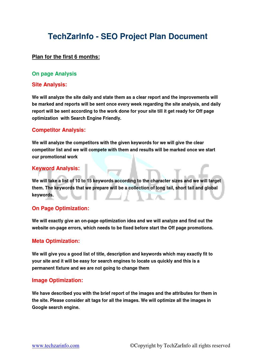 TechZarInfo SEO Project Plan Document by Zar Bro - issuu