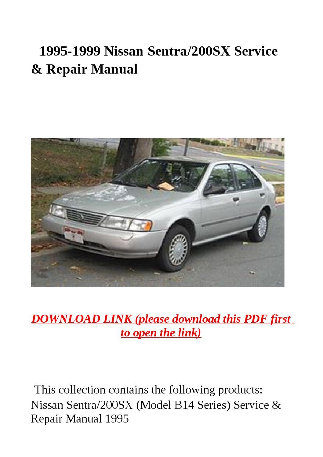 1995 1999 Nissan Sentra 200sx Service Amp Repair Manual By border=