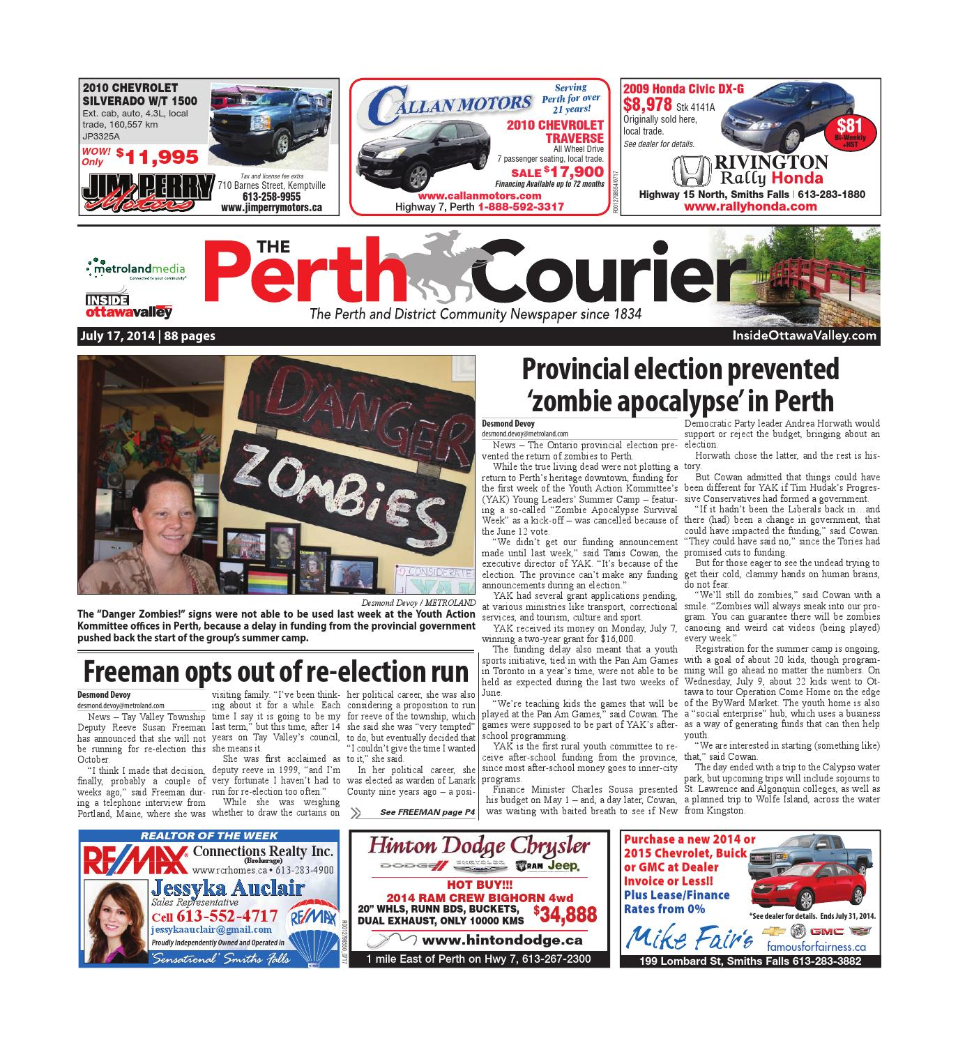 Perth071714 By Metroland East The Perth Courier Issuu