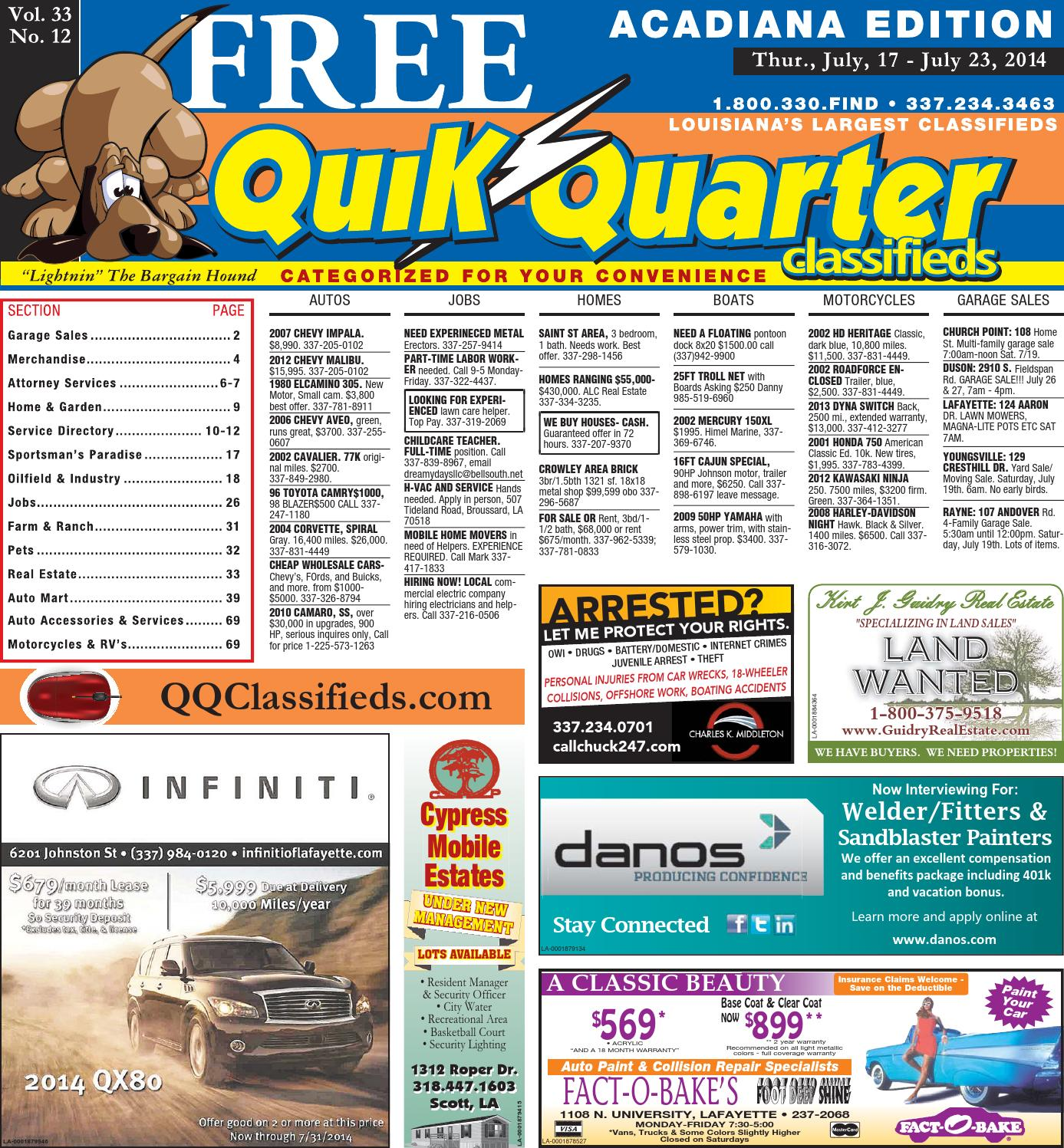 Qqacadiana 07172014 By Part Of The Usa Today Network Issuu Free Ongkir Philips Docking Apple Dcm 2260