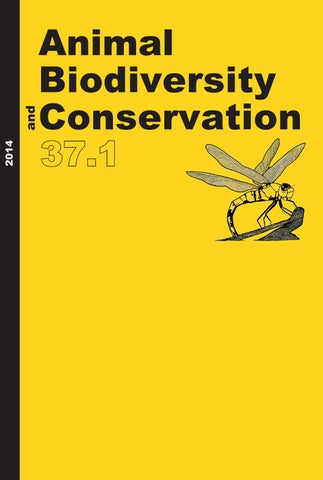 Animal Biodiversity And Conservation Issue 371 2014 By Museu