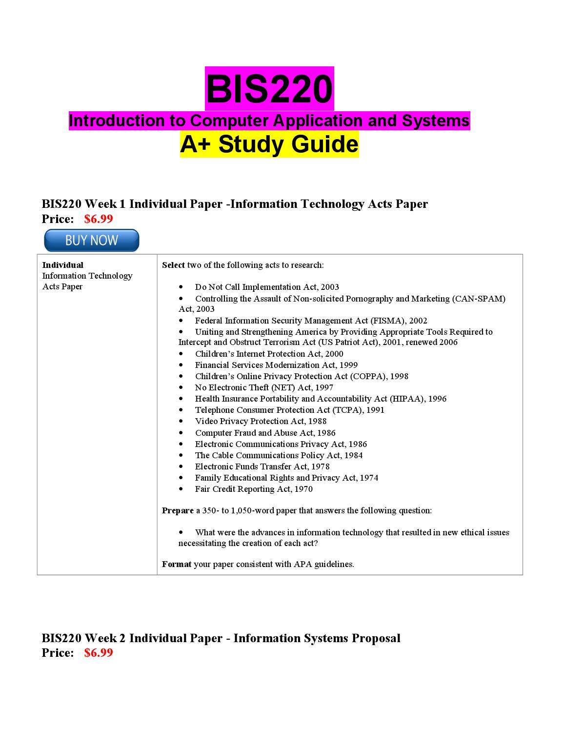 bis 220 week 2 information systems proposal Study flashcards and notes from tax school bis 220 week 5 team study bis 220 week 2 individual study guide information systems proposaldocx bis 220 week 1.