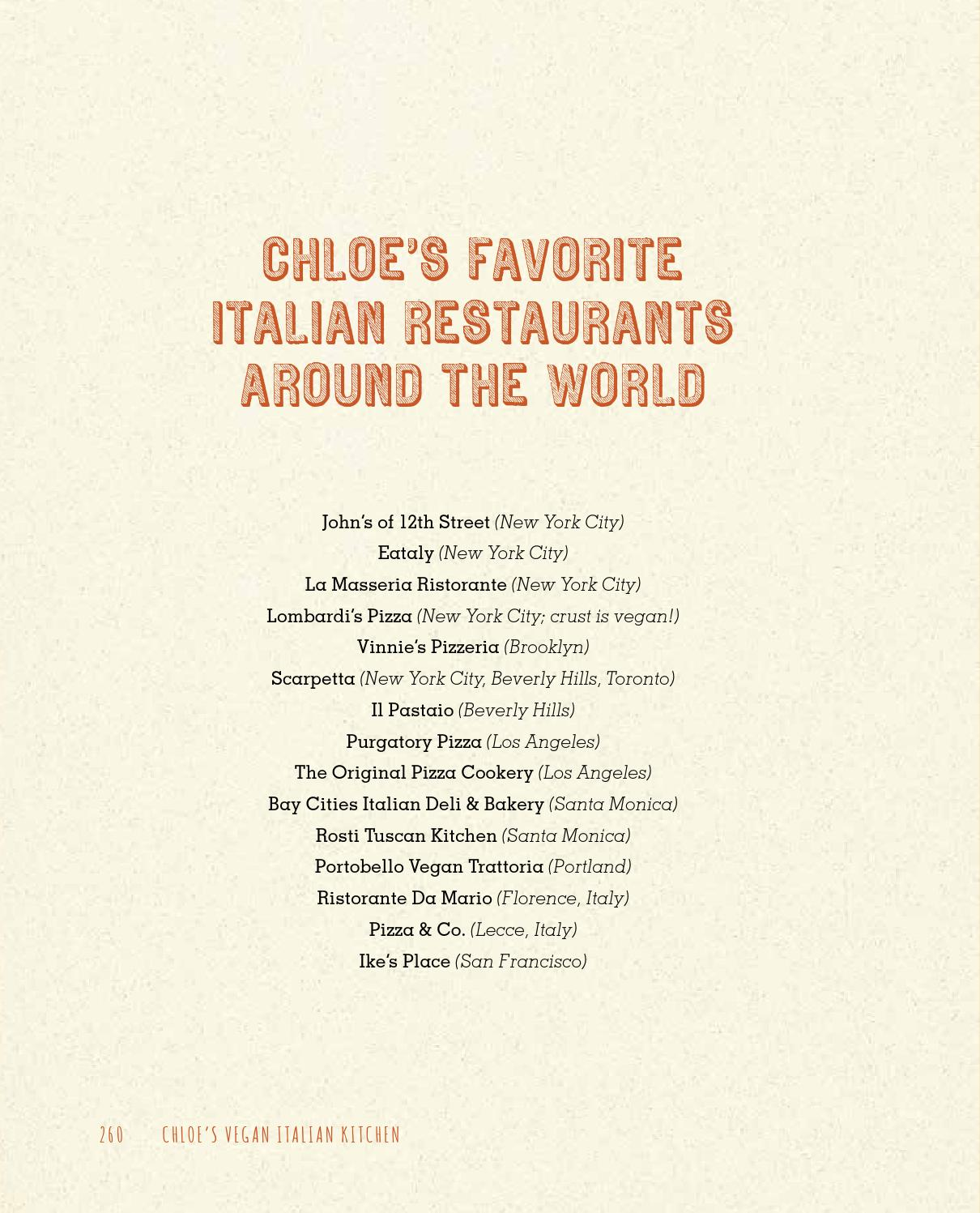 Chloe\'s Vegan Italian Kitchen -- Excerpt by Atria Books - issuu