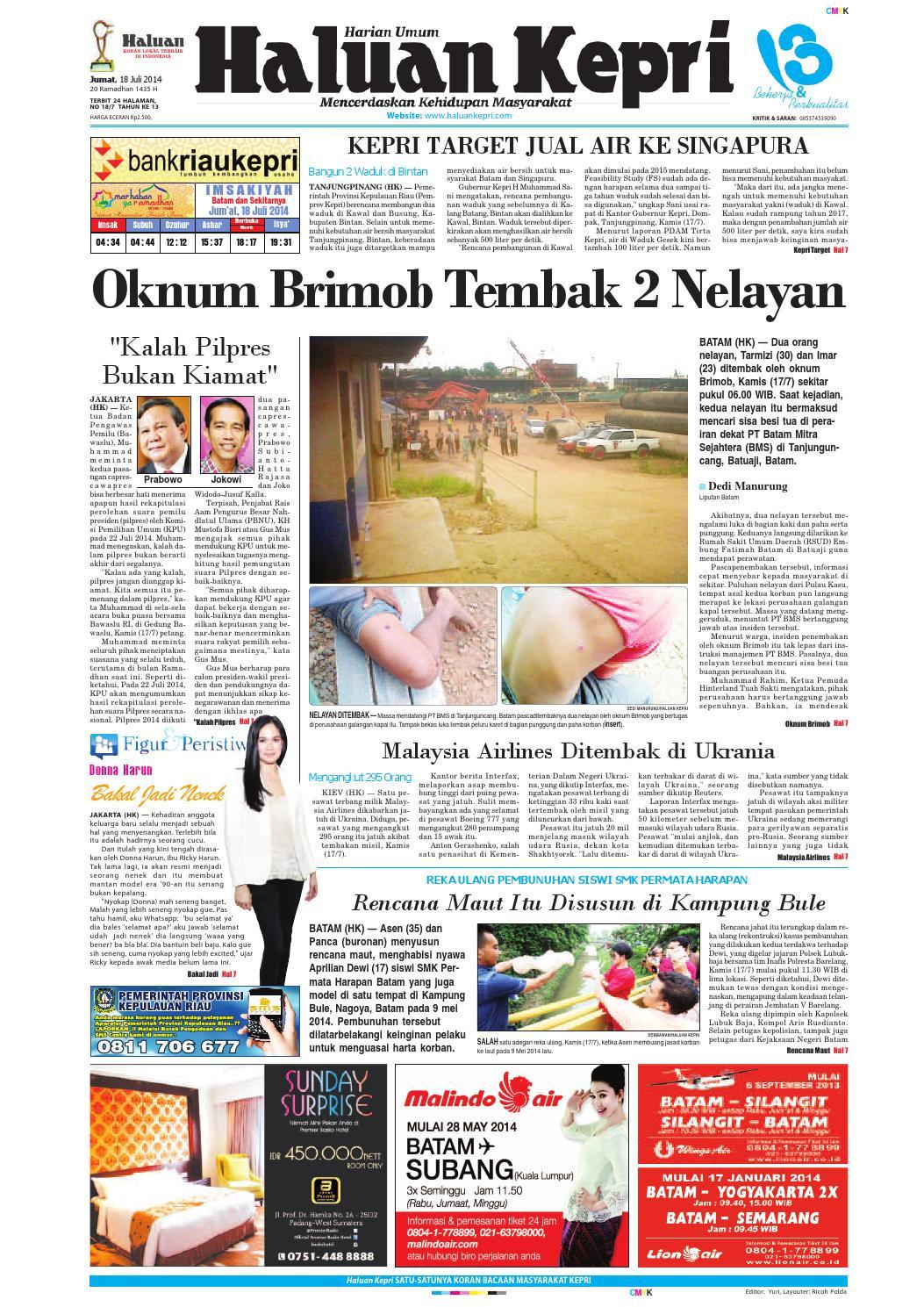Haluankepri 18jul14 By Haluan Kepri Issuu Produk Umkm Bumn Bolu Gulung Hj Enong