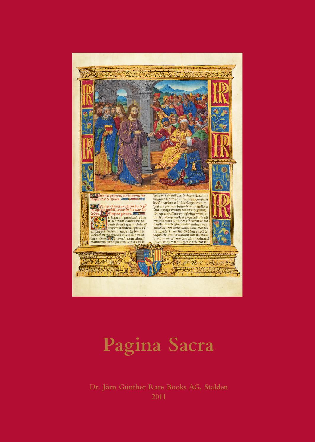 Catalogue 10 Pagina Sacra By Jg Rarebooks Issuu