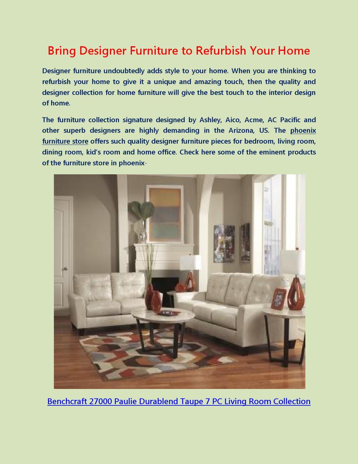 Bring Designer Furniture To Refurbish