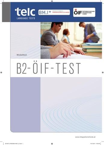 B2 öif Modelltest By österreichischer Integrationsfonds Issuu