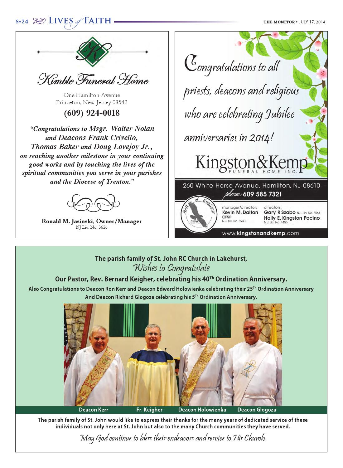 Lives Of Faith 2014 By Diocese Of Trenton Issuu