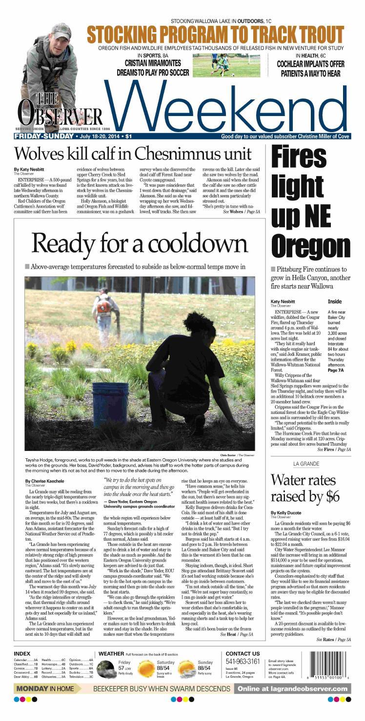 La Grande Observer Daily Paper 07-18-14 by NorthEast Oregon News - issuu