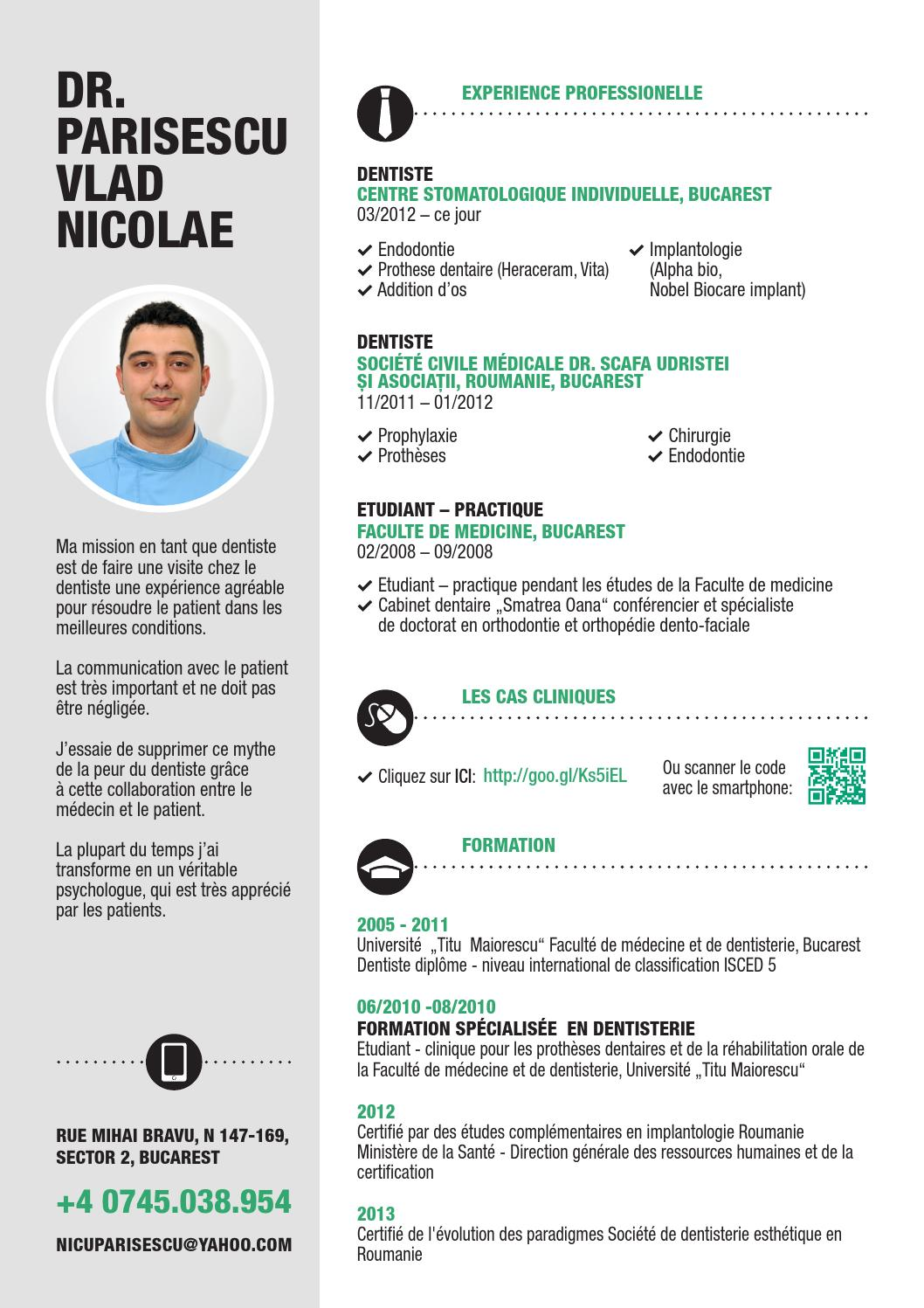 curriculum vitae dr  parisescu vlad nicolae by parisescu vlad nicolae