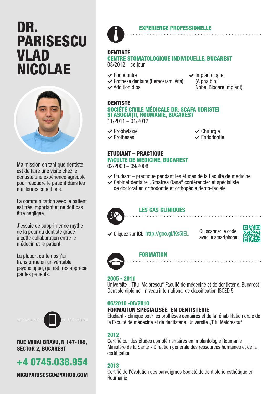 curriculum vitae dr  parisescu vlad nicolae by parisescu
