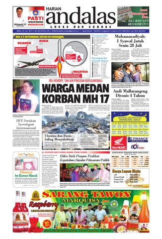 Epaper andalas edisi sabtu 19 juli 2014 by media andalas - issuu 43d8641ded