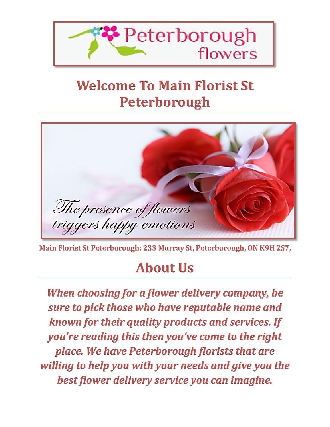 Main florist st peterborough by sharon menchaca issuu izmirmasajfo