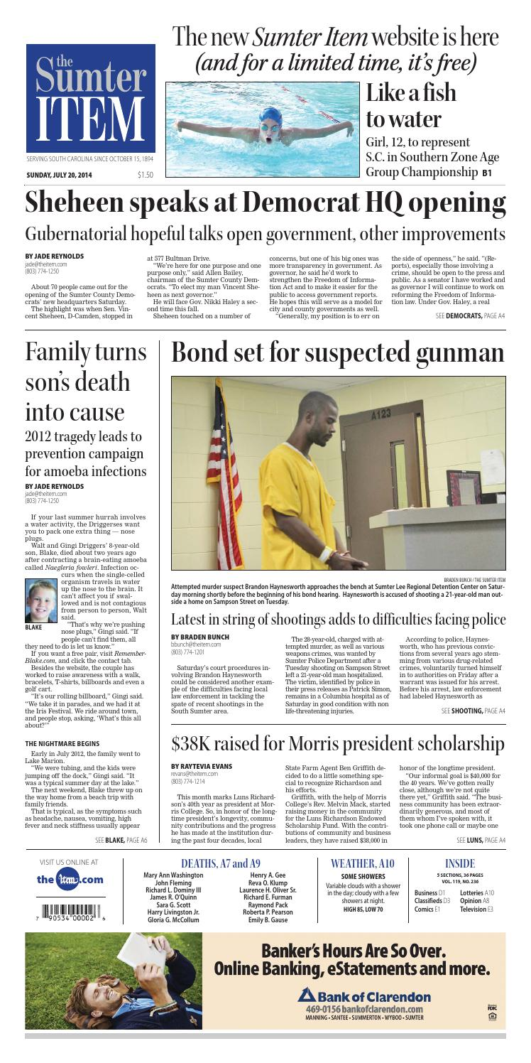 July 20, 2014 by The Sumter Item - issuu