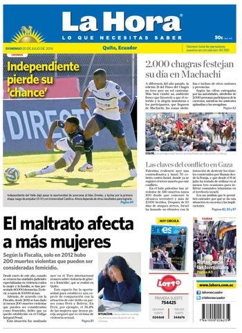 Quito 20 de julio 2014 by Diario La Hora Ecuador - issuu 07d31fdecde