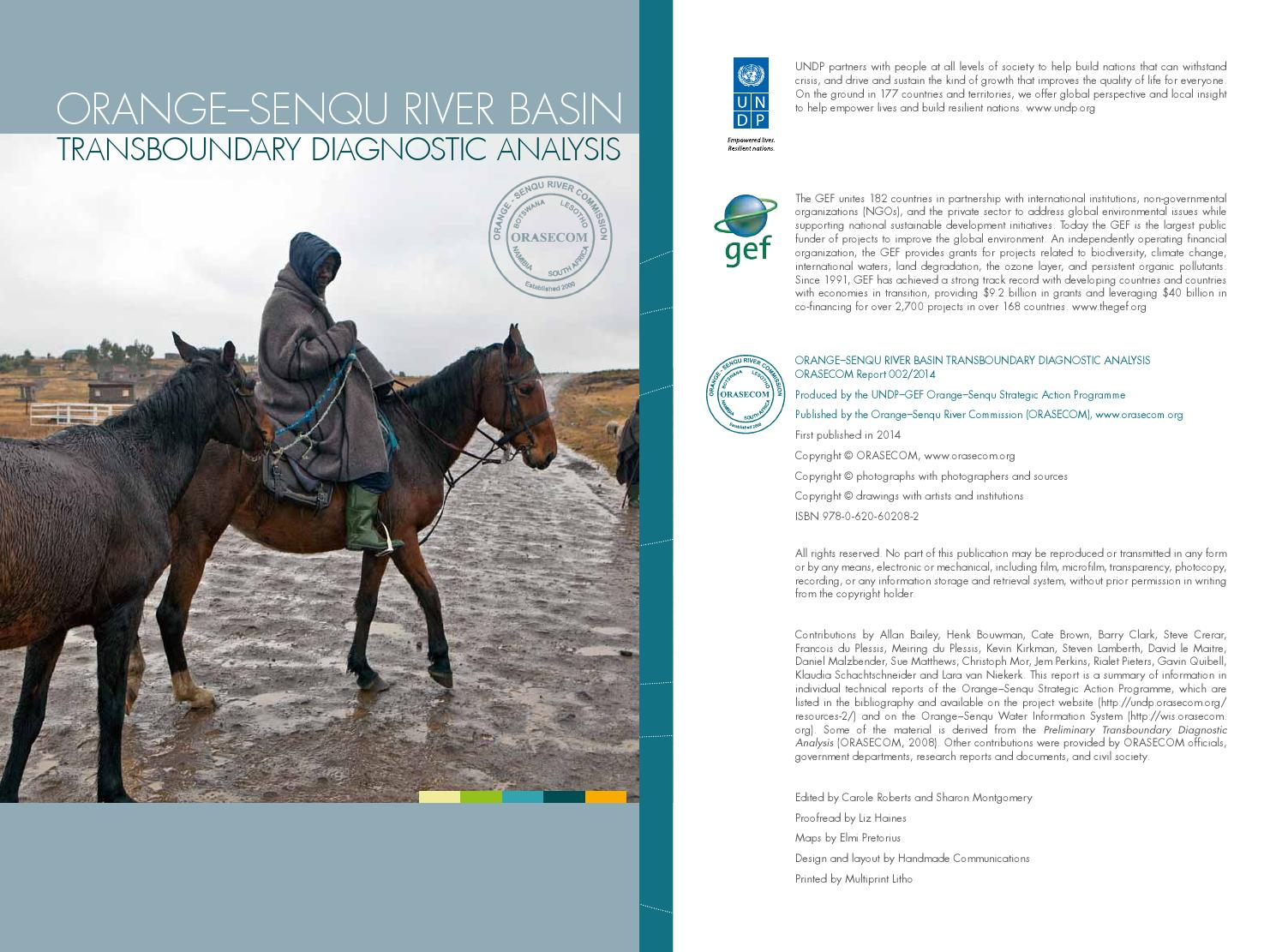 Orangesenqu River Basin Transboundary Diagnostic Report By Handmade Hippo Halter 05 Universal Mount Car Holder Mobil Black Communications Issuu