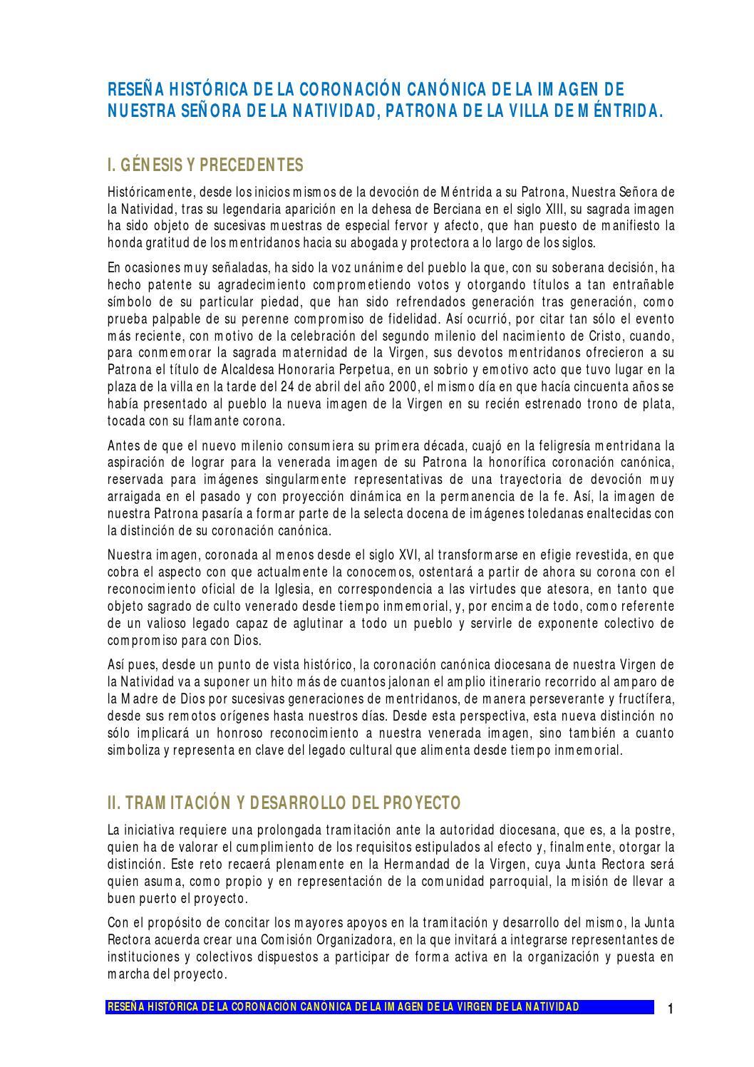 Reseña historica de la coronacion canonica by Rafael Paloma - issuu