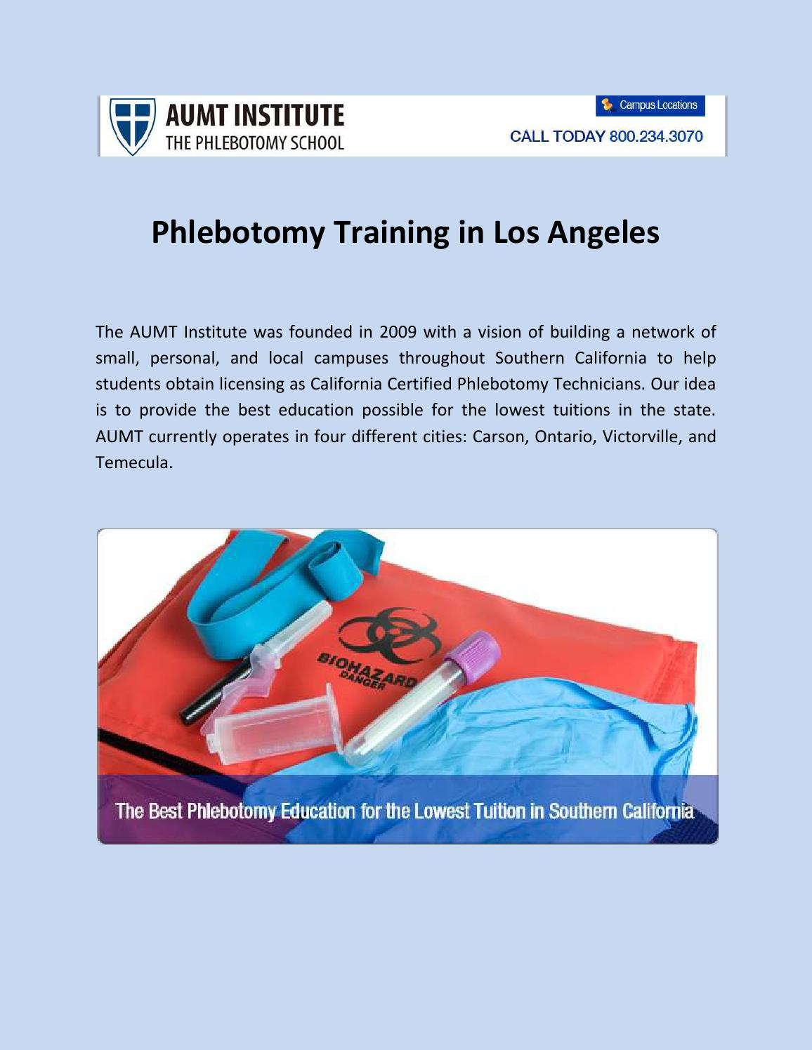 Phlebotomy Training In Los Angeles By Aumt Issuu