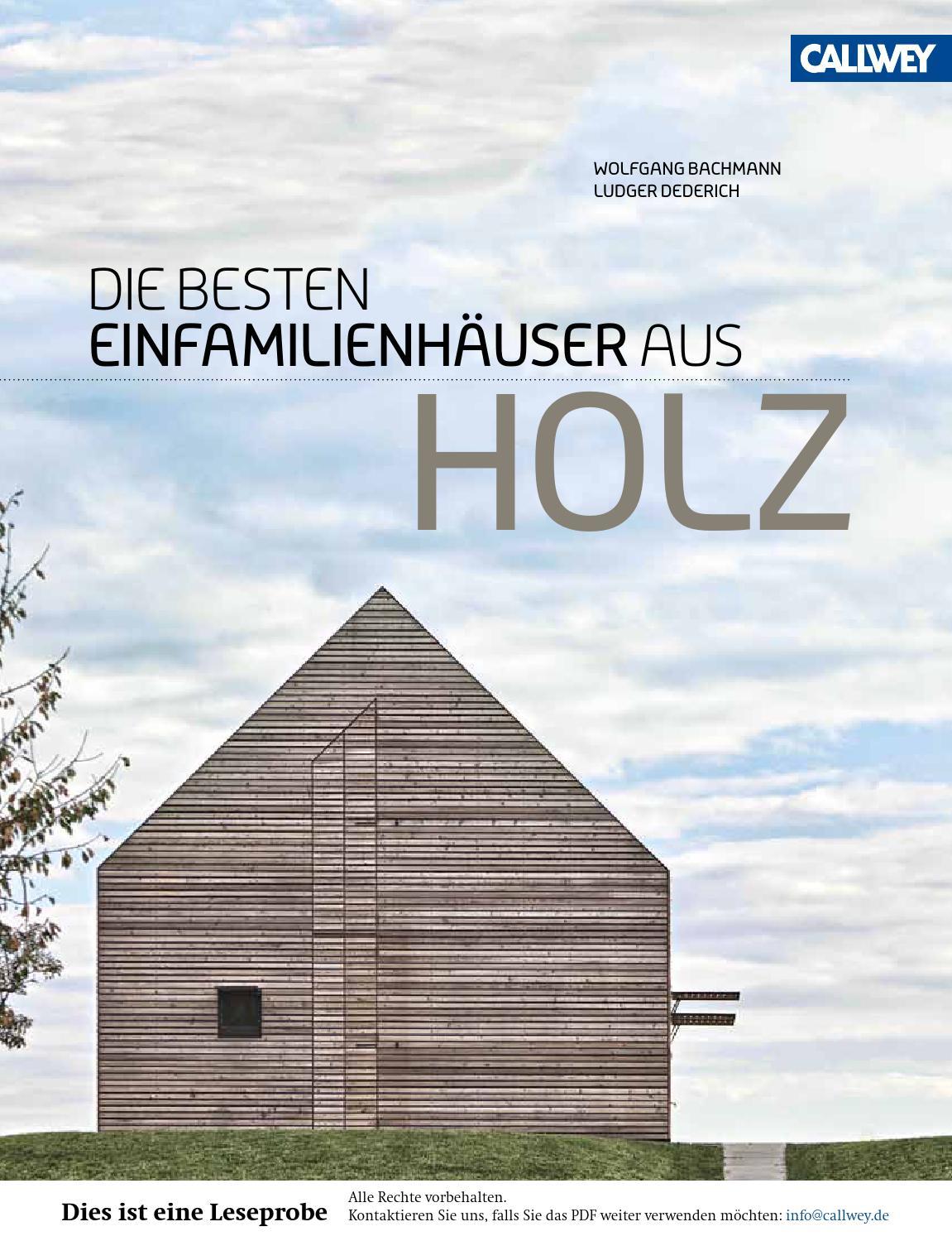 bachmann die besten einfamilienhaeuser aus holz callwey. Black Bedroom Furniture Sets. Home Design Ideas