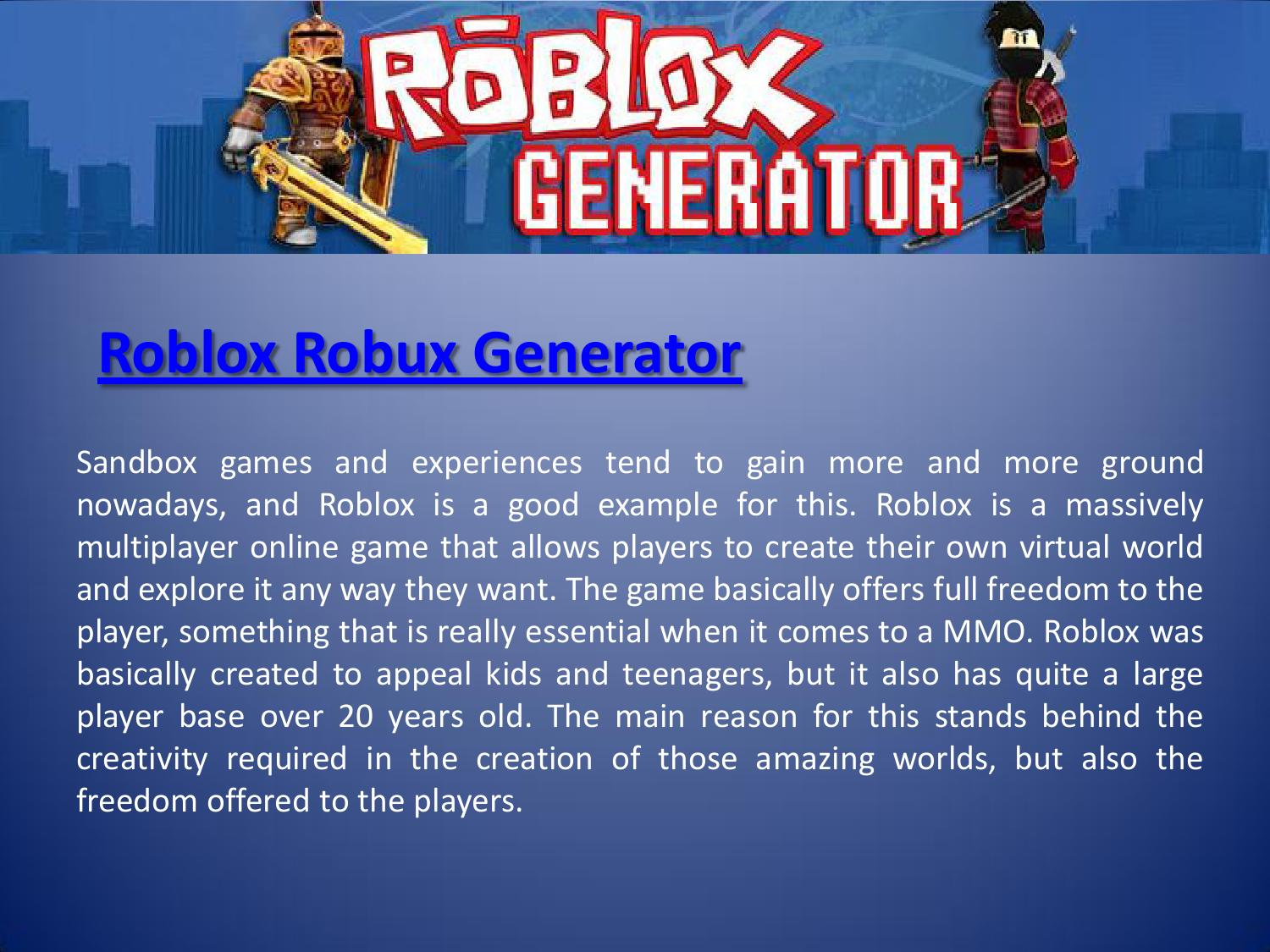 Roblox Hack by Robux Generator - Issuu