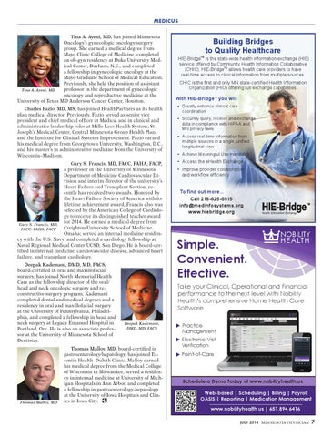 Minnesota Physician July 2014 by Minnesota Physician