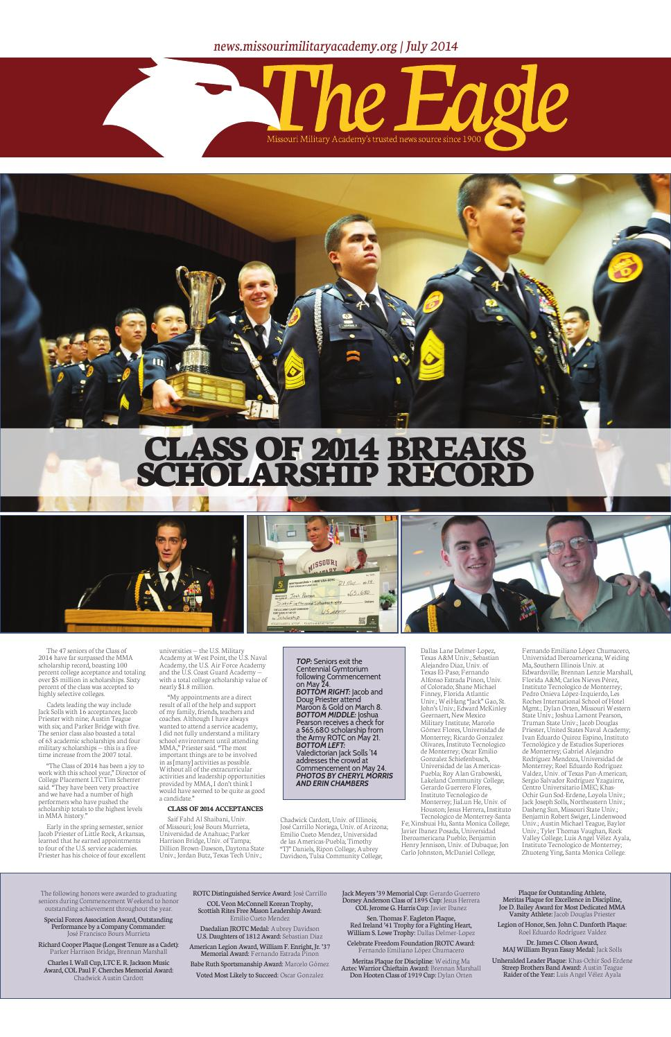 The Mma Eagle Spring 2014 Edition By Missouri Military Academy Issuu