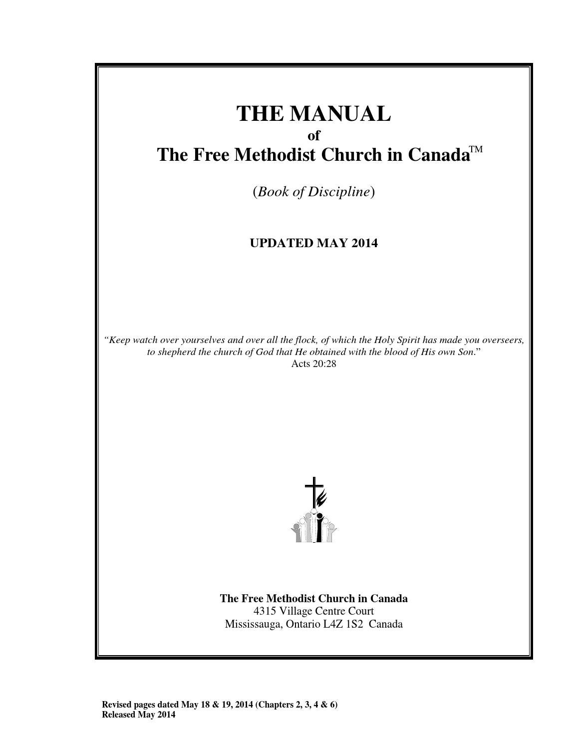 The manual of the free methodist church in canada may 2014 by Free  Methodist Church In Canada - issuu