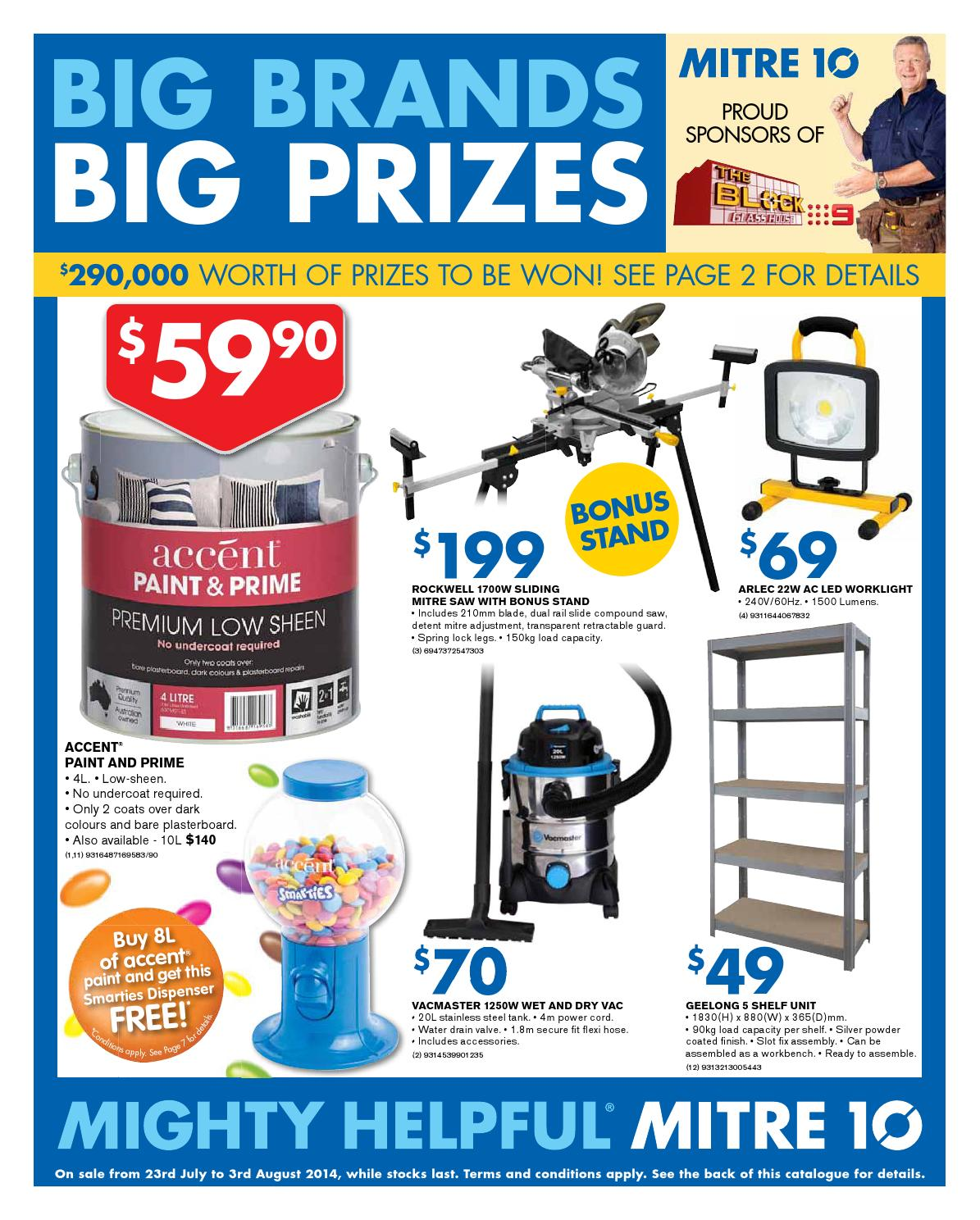 Mitre 10 Catalogue – 23 July to 3 August 2014 by Echo Publications