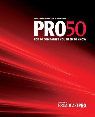 Pro50 2014 by BroadcastPro ME - issuu