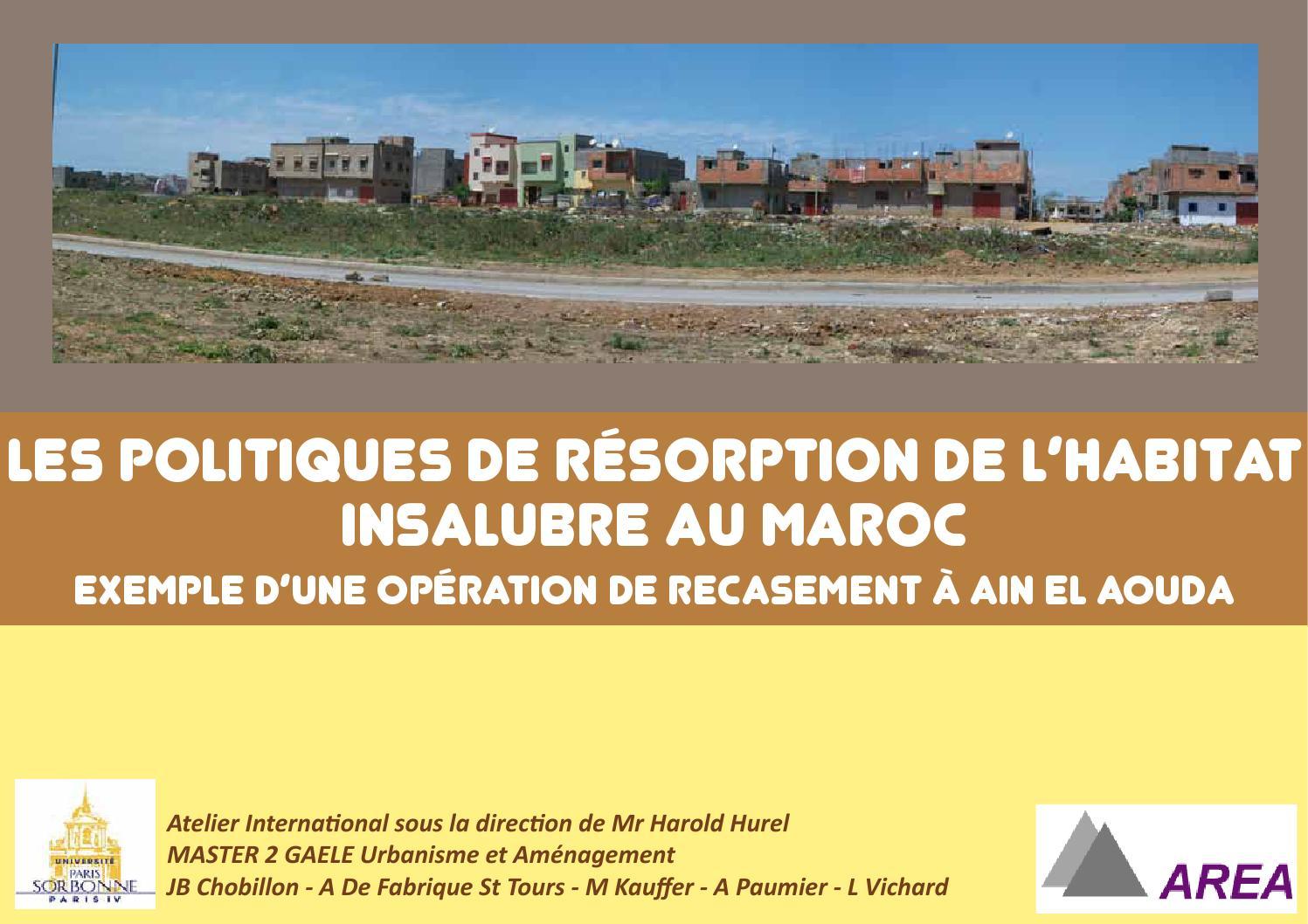 Les Politiques De Resorption Lhabitat Insalubre Au Maroc By Vichard Laure