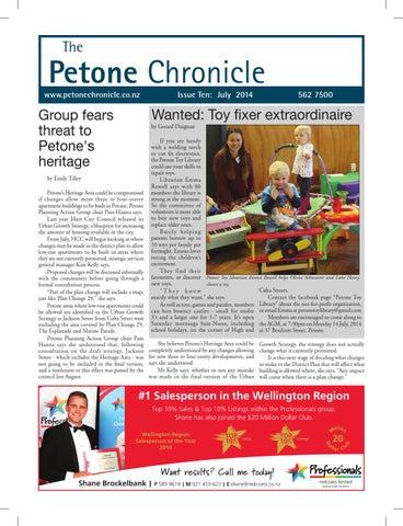 Petone Chronicle July 2014 By The Petone Chronicle Issuu