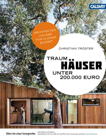 troester traumhaeuser unter euro callwey issuu by georg d w callwey gmbh co kg issuu. Black Bedroom Furniture Sets. Home Design Ideas