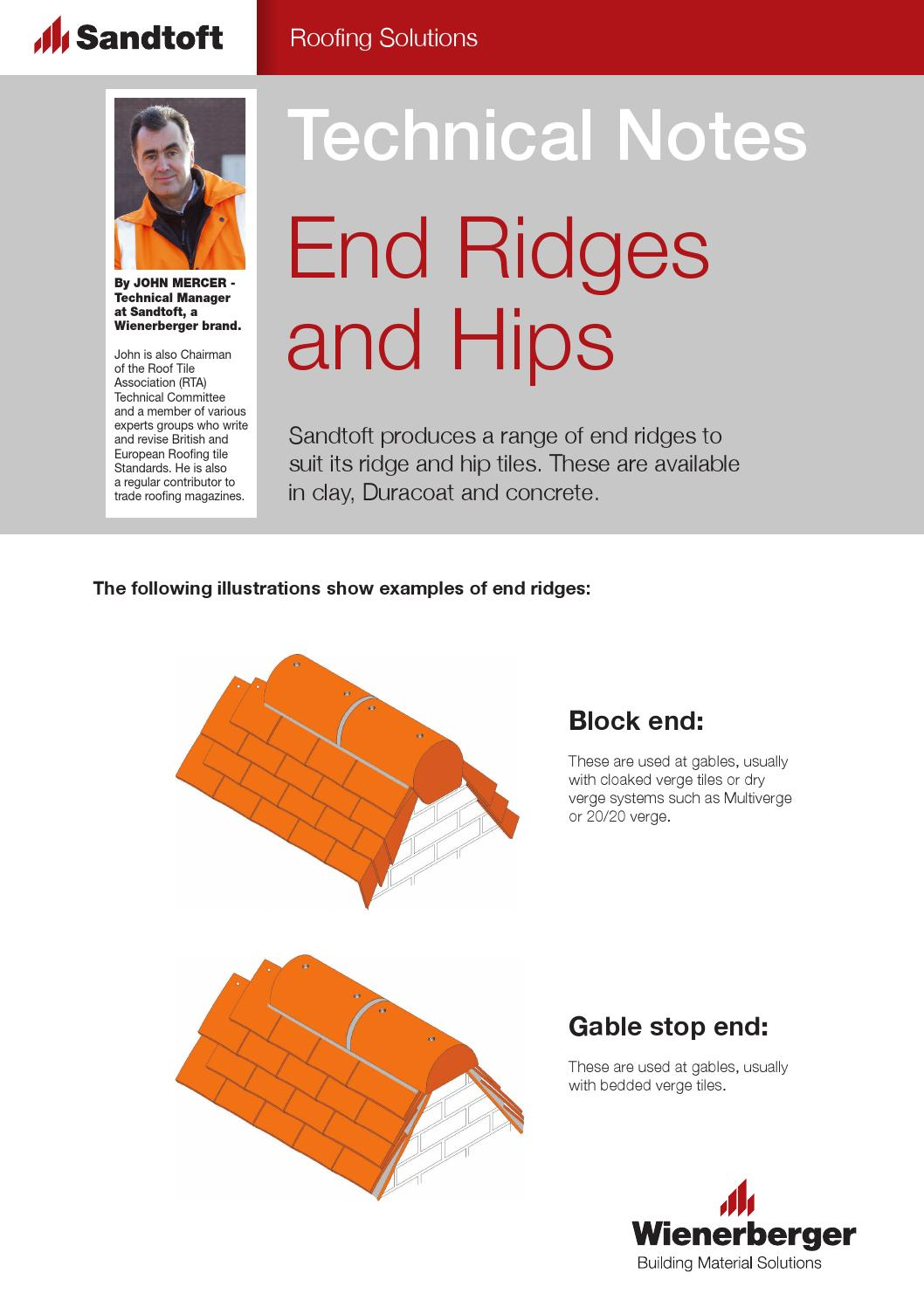 Sandtoft Technical Notes: End Ridges and Hips by Wienerberger AG - issuu